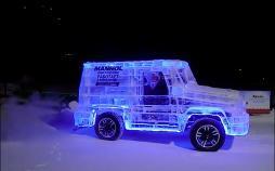 عکس خودرو یخی,تصاویرخودرو یخی,عکس خودرویی از جنس یخ
