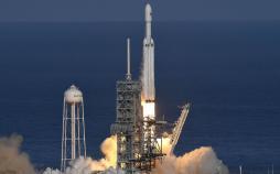 تصاویر پرتاب راکت فالکون هوی,عکسهای پرتاب موشک فالکون هوی,عکس های پرتاب موشک در فلوریدا