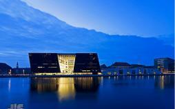 عکس کتابخانه الماس سیاه دانمارک,تصاویر کتابخانه الماس سیاه دانمارک,عکس کتابخانه الماس سیا