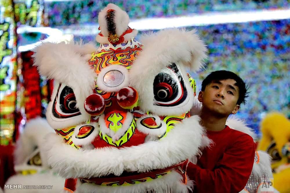 عکس مسابقات رقص شیر در سنگاپور,تصاویرمسابقات رقص شیر در سنگاپور,عکس مسابقات رقص شیر