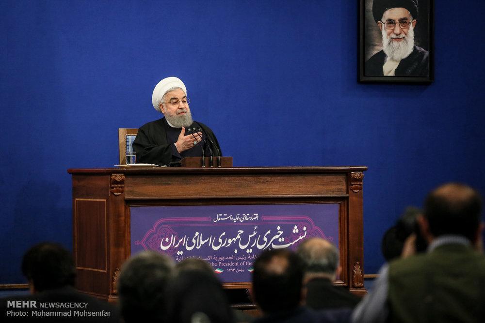 تصاویر نشست خبری رئیسجمهور,عکس های نشست خبری رئیسجمهور حسن روحانی,تصاویرنشست خبری روحانی با رسانه ها