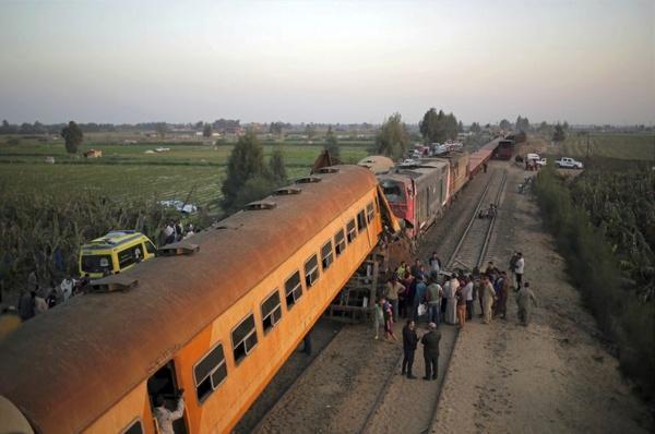 برخورد قطار در مصر,اخبار حوادث,خبرهای حوادث,حوادث امروز