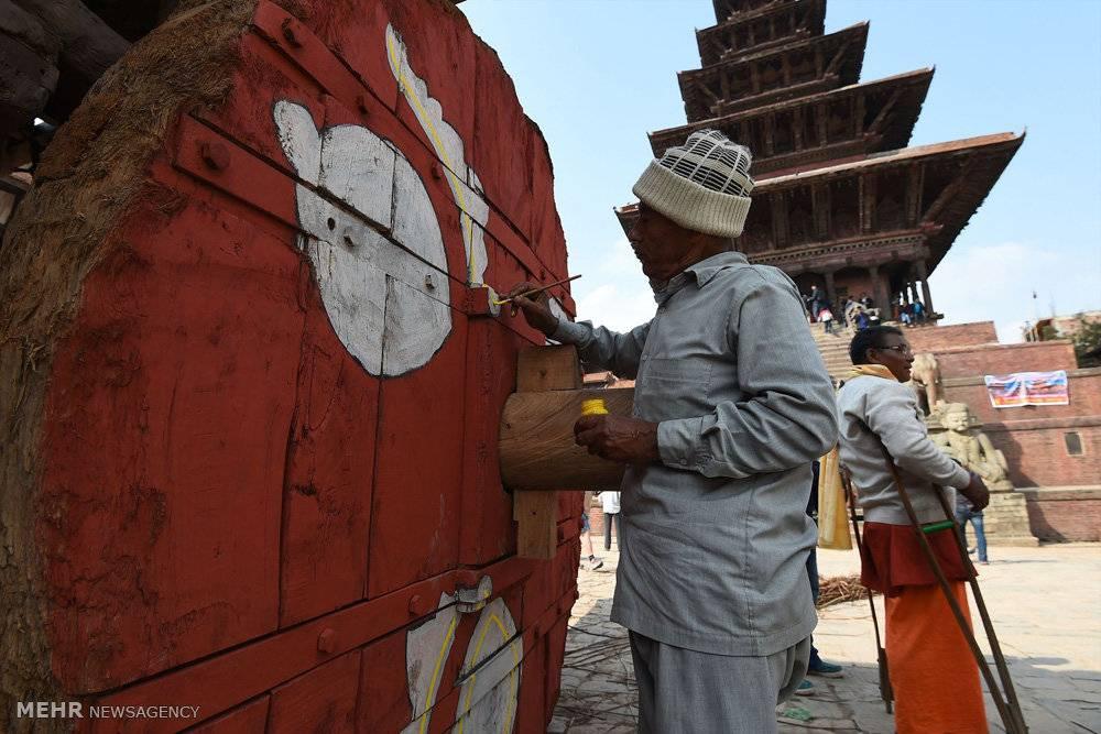 تصاویرجشن سال نو در نپال,عکس های سال نو در نپال,تصاویرمردم نپال درجشن سال نو