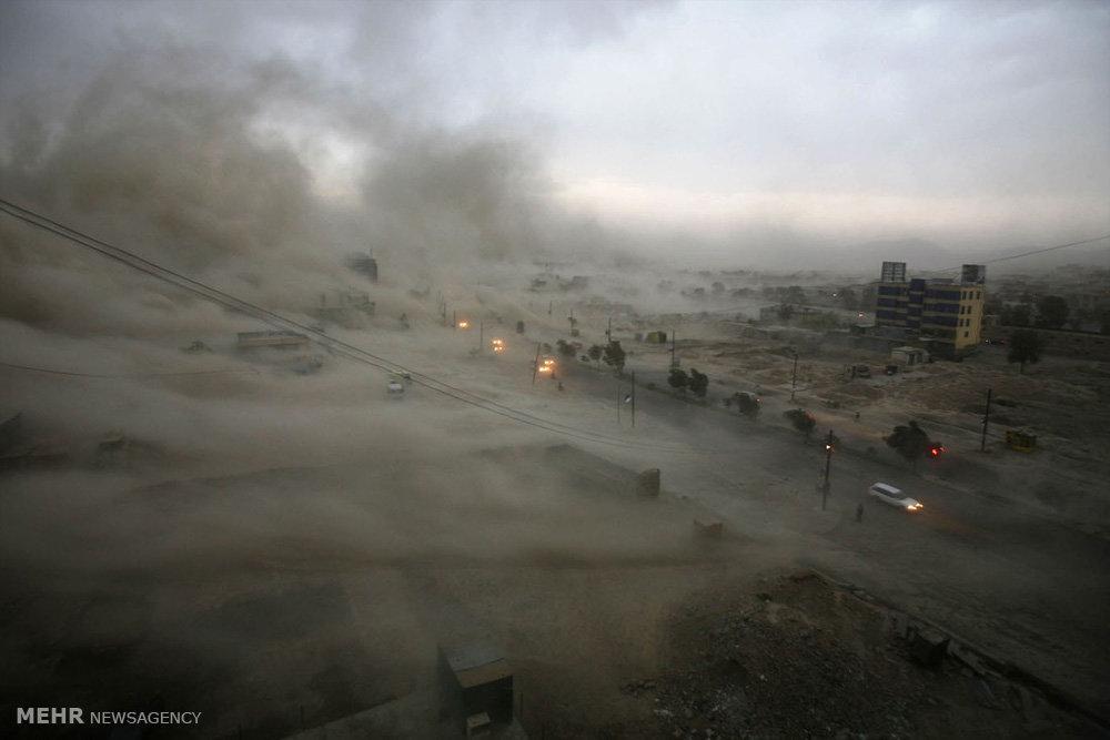 عکس طوفان شن,تصاویرطوفان شن,عکس ریزگردها