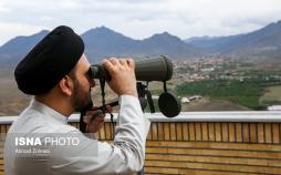 تصاویراستهلال ماه مبارک رمضان,عکس های رویت ماه درروستای ویریچ قم,تصاویر روحانیون درروستای ویریچ قم