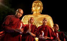 تصاویر مراسم سالروز تولد بودا,عکس های مراسم سالروز تولد بودا,عکس های بودائیان سراسر جهان در سالروز تولد بودا