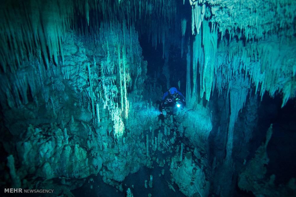 تصاویرغارهای آبی مکزیک,عکس های غارهای آبی,تصاویرغار ابی
