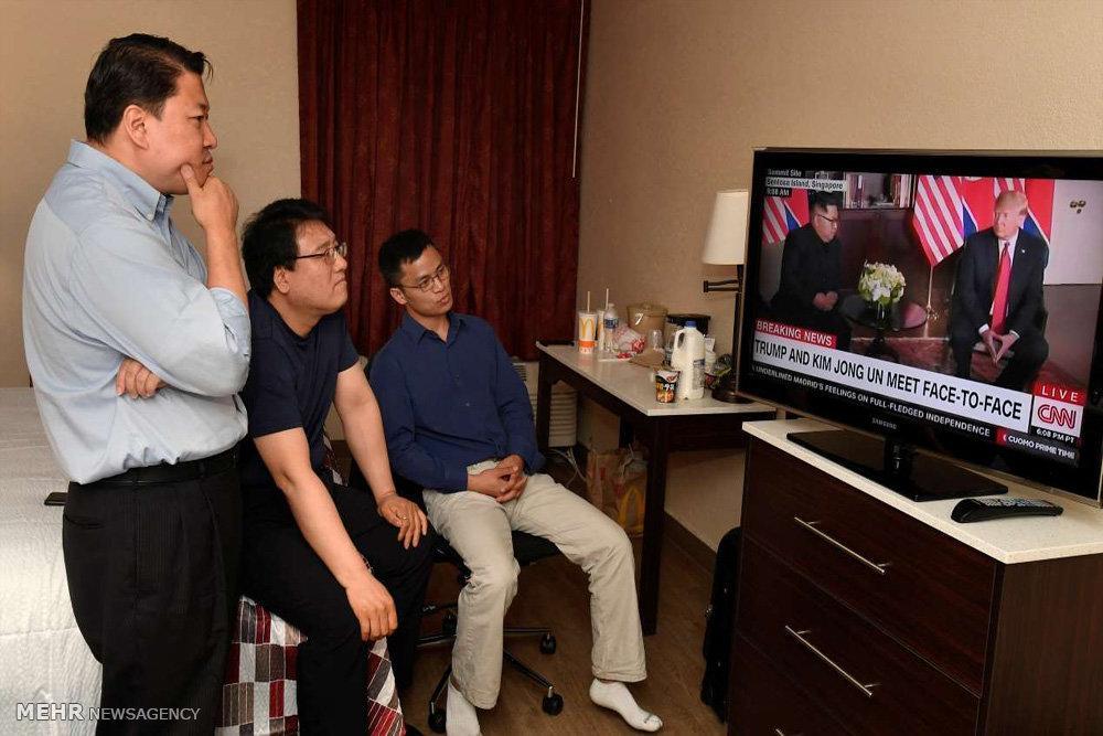 تصاویر واکنش ها به ملاقات رهبران آمریکا و کره شمالی,عکس های واکنش مردم به دیداررهبران آمریکا و کره شمالی,تصاویر واکنشسیاستمداران کشورها به دیدار ترامپ وکیم جونگ اون
