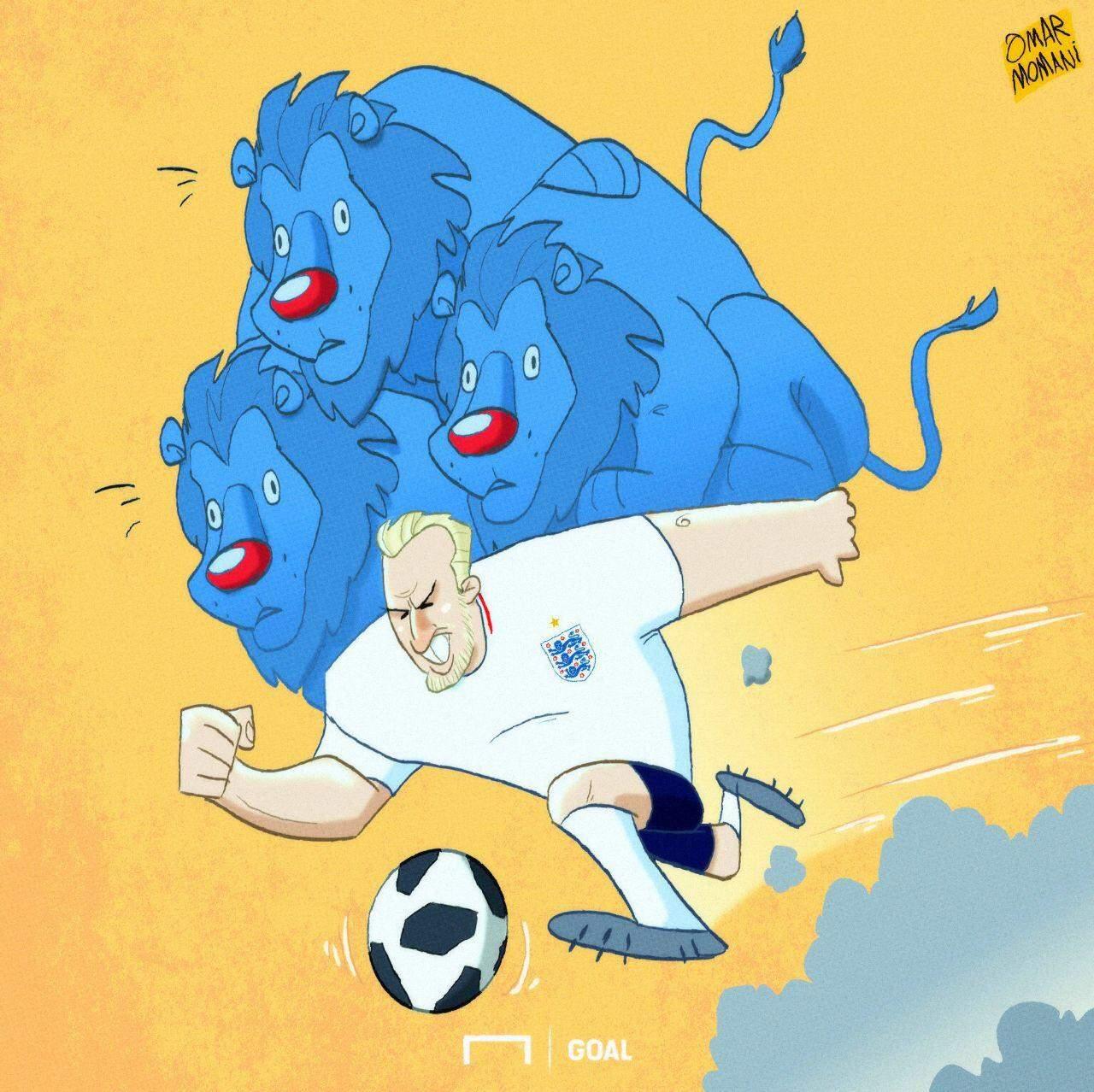 کاریکاتور گلزنی کین در بازی با تونس,کاریکاتور,عکس کاریکاتور,کاریکاتور ورزشی