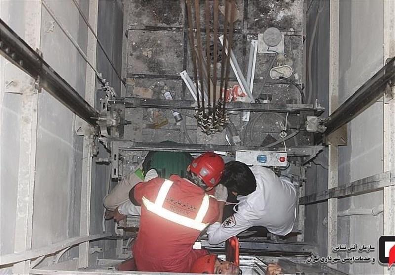 سقوط کابین آسانسور در خیابان جمهوری تهران,اخبار حوادث,خبرهای حوادث,حوادث امروز