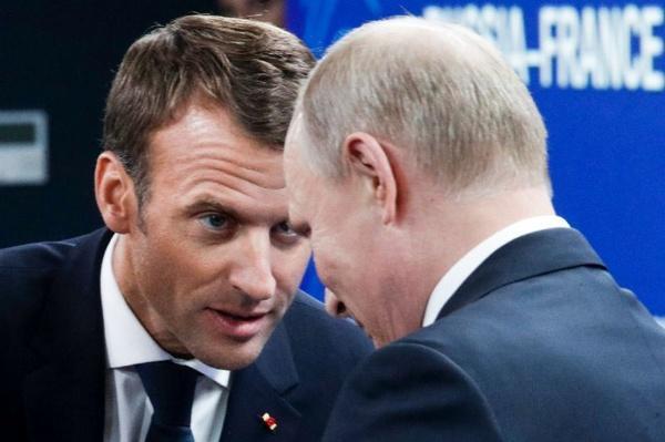 ماکرون و پوتین,اخبار فوتبال,خبرهای فوتبال,جام جهانی
