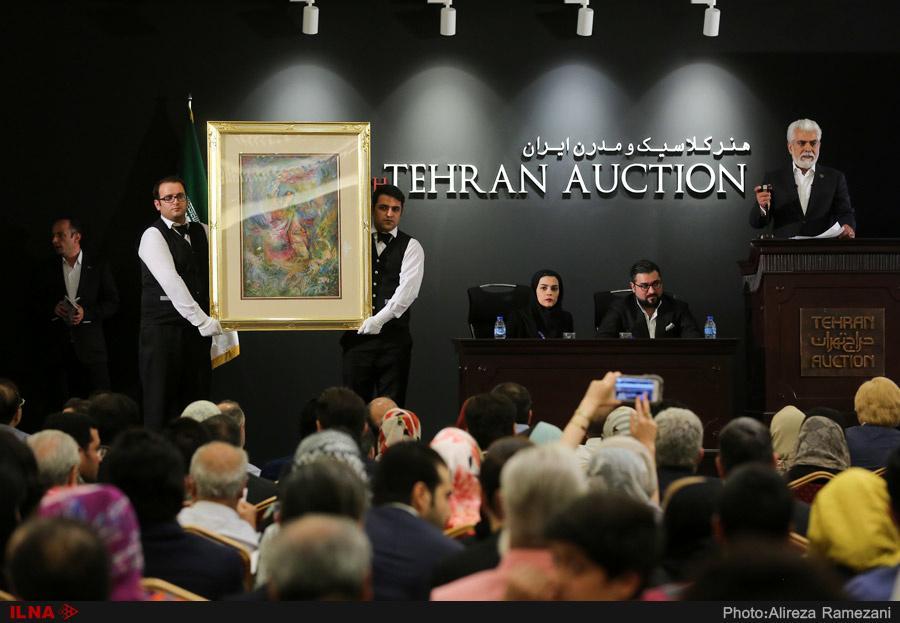 تصاویرحراج آثار هنری,تصاویرحراج تهران,تصاویر نهمین حراج تهران