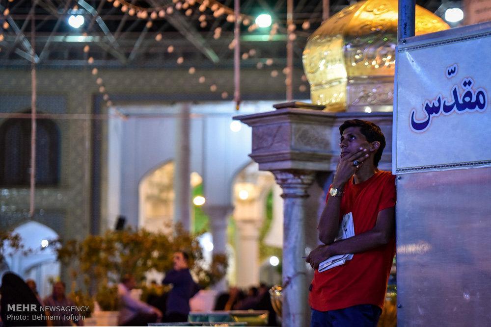 عکس حرم عبدالعظیم حسنی,تصاویرحرم عبدالعظیم حسنی,عکس حرم عبدالعظیم حسنی در شب شهادت امام صادق (ع)