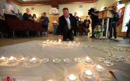 عکس تیراندازی در کانادا,تصاویرتیراندازی در کانادا,عکس مراسم کشته شدگان تیراندازی در کانادا