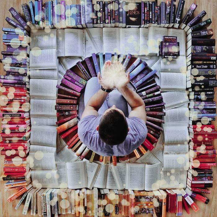 عکسهای خلاقانه با کتاب,اخبار جالب,خبرهای جالب,خواندنی ها و دیدنی ها