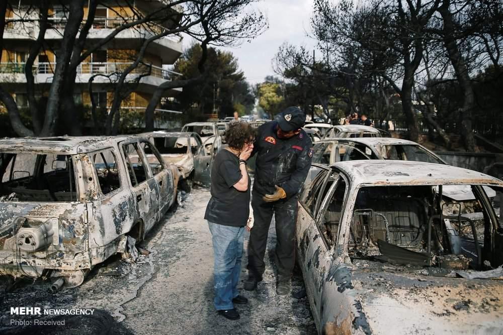 تصاویر آتش سوزی در یونان,عکس های قربانیان آتش سوزی یونان,تصاویرآتش سوزی مرگبار در یونان