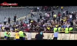 فیلم/ درگیری شدید میان هواداران پرسپولیس و نفت مسجد سلیمان