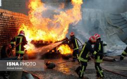 تصاویر آتش سوزی در جایگاه گاز مایع در قم,عکس های انفجار در جایگاه گاز مایع در قم,عکس آتش سوزی جایگاه گاز مایع در قم