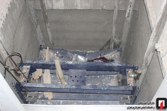 سقوط مرگبار نصاب آسانسور در تهران,اخبار حوادث,خبرهای حوادث,حوادث امروز