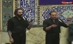فیلم/ مداحی زیبای «مصطفی محسنزاده» و «سروش رحمانی»