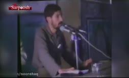 ویدئو/ نوحه خوانی «صادق آهنگران» در جبهه
