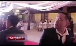 طوفانی که مراسم عروسی زوج فلیپینی را به هم ریخت (+فیلم)
