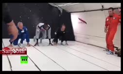 ویدئو/ سریع ترین مرد جهان در شرایط بی وزنی