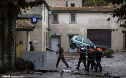 تصاویرخسارات سیل در فرانسه,عکس بارندگی های سیل آسا در فرانسه, عکسهای سیل در جنوب فرانسه