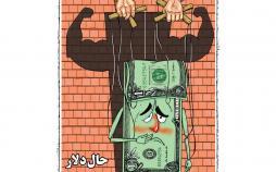کاریکاتور نوسانات نرخ دلار