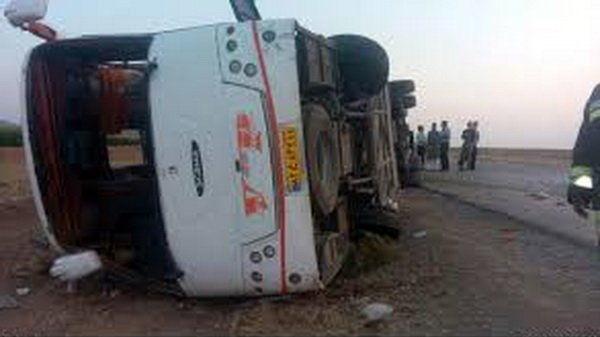 واژگونی اتوبوس,اخبار حوادث,خبرهای حوادث,حوادث