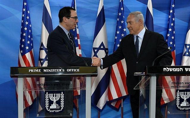 بنیامین نتانیاهو و استیو منوچین,اخبار سیاسی,خبرهای سیاسی,سیاست خارجی