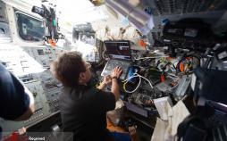 عکس ایستگاه فضایی بین المللی,تصاویرایستگاه فضایی بین المللی,عکس فضانوردان ایستگاه فضایی بین المللی
