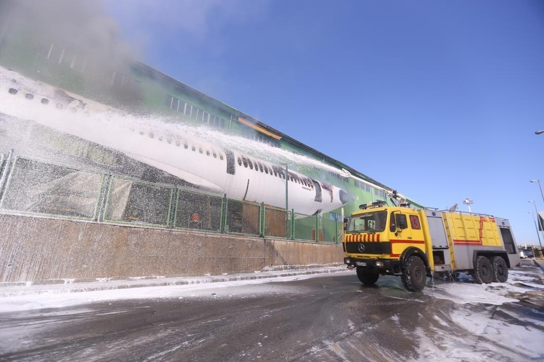 آتش سوزی هواپیمای اسقاطی ماهان,اخبار حوادث,خبرهای حوادث,حوادث امروز