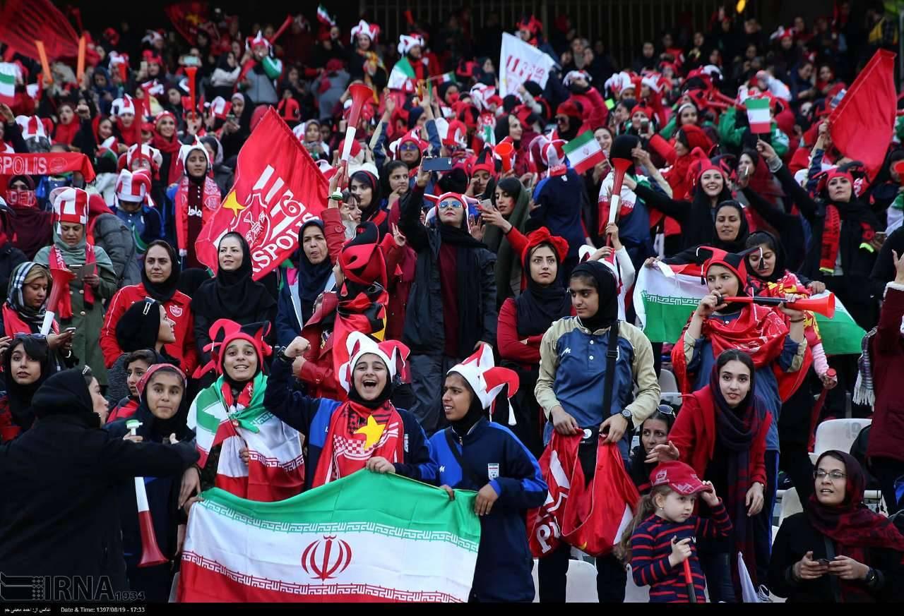 تصاویر حضور بانوان در ورزشگاه آزادی,عکس های حضور بانوان در دیدار پرسپولیس و کاشیما,تصاویر حضور بانوان طرفدار فوتبال در دیدار پرسپولیس و کاشیما