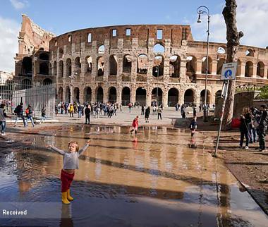 عکس خسارت بارش و طوفان در ایتالیا,تصاویرخسارت بارش و طوفان در ایتالیا,عکس خسارت بارش درایتالیا