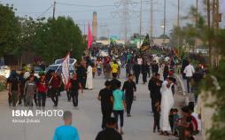 عکس زائران اربعین حسینی,تصاویرزائران اربعین حسینی,عکس خروج زائران اربعین حسینی از نجف