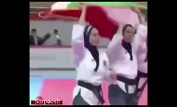 پخش سرود شاهنشاهی برای ایران در جهانی تکواندوی بانوان/ اعتراض ایران به فدراسیون جهانی تکواندو