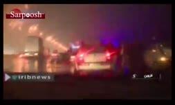 فیلم/ تصادف زنجیرهای ۴۰ خودرو در اتوبان قزوین