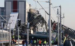 تصاویر حادثه خروج ریل قطار در ترکیه,عکس های خسارات حادثه قطار در ترکیه,تصاویر خروج قطار سریعالسیر از ریل در ترکیه