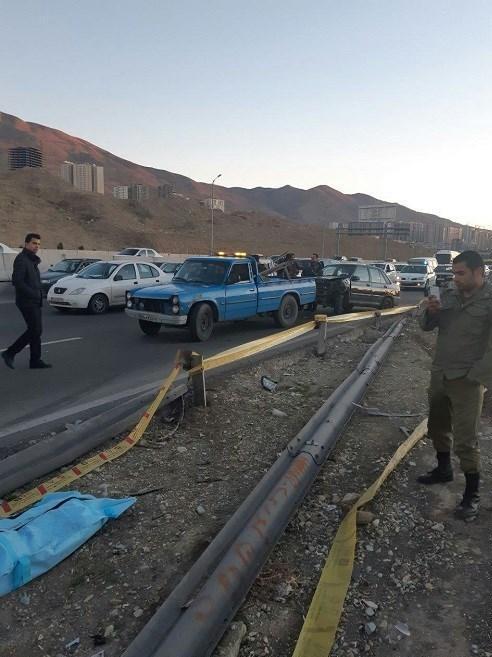 تصادف مرگبار در اتوبان تهران ـ کرج,اخبار حوادث,خبرهای حوادث,حوادث