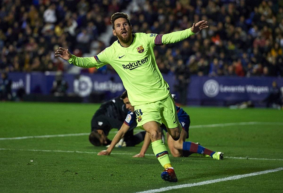 شکست تحقیرآمیز لوانته مقابل بارسلونا با درخشش مسی