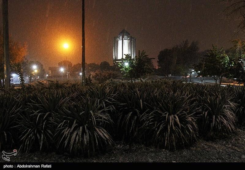 تصاویر بارش برف همدان,برف پاییزی,بارش برف