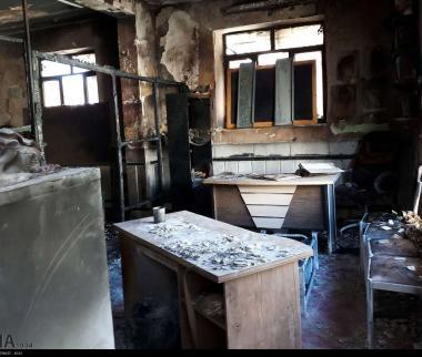 تصاویر آتش سوزی یک دبستان در زاهدان,عکس های آتش گرفتن یک دبستان غیرانتفاعی در زاهدان,عکس های آتش سوزی پیش دبستانی در زاهدان
