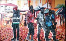 نقاشی با مواد بازیافتی الکترونیکی,اخبار هنرهای تجسمی,خبرهای هنرهای تجسمی,هنرهای تجسمی