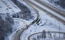 تصاویرجزئیات زلزله ایالت آلاسکا,عکس های خسارات زلزله آلاسکا,تصاویرزلزله هفت ریشتری در آلاسکا