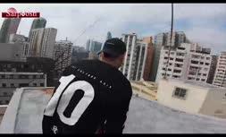 ویدئو/ پارکور نفسگیر روی بام برجهای هنگکنگ