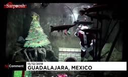 فیلم/ بابا نوئل دریایی در آکواریوم مکزیک