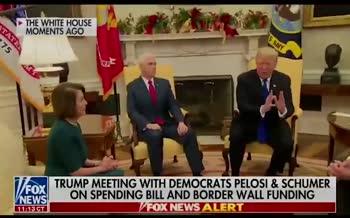 ویدئو/ مشاجره علنی ترامپ با رهبران دموکرات کنگره مقابل دوربینها