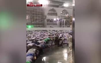 ویدئو/ بارش باران هنگام نماز در مکه مکرمه