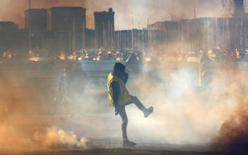 تصاویر اعتراضات در فرانسه,عکس های متعرضان فرانسه,تصاویر جلیقه زردها در فرانسه